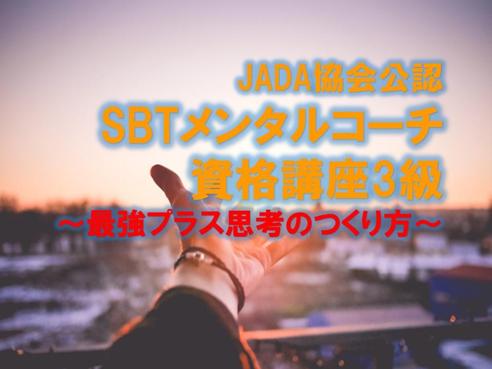 【オンライン】SBTメンタルコーチ資格講座3級 1/24